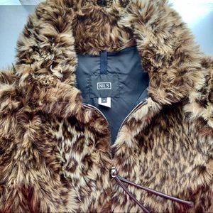 NILS Brand Leopard Print Faux Fur Ski/Winter Coat